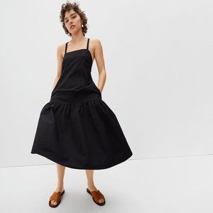Everlane The Pinafore Dress NWT Black Size 16
